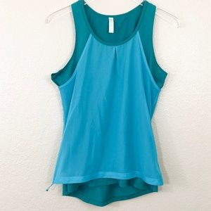 Lucy Double Layer Mesh Athletic Teal Tank